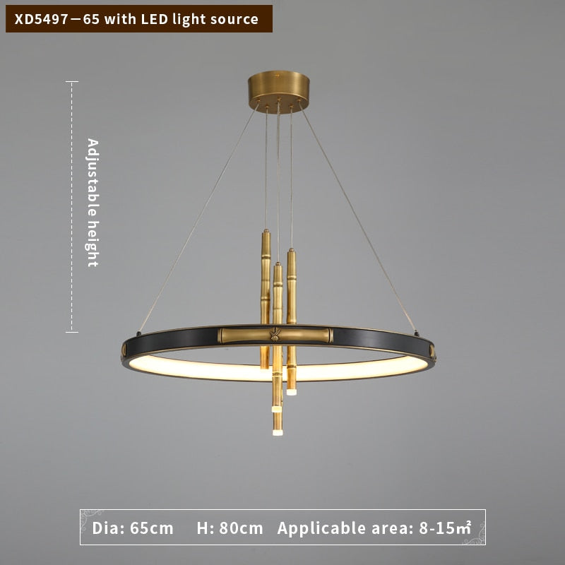 London Two-Tier Modern Rounded Metal Chandelier - Venetto DesignDia65CM / Warm Light