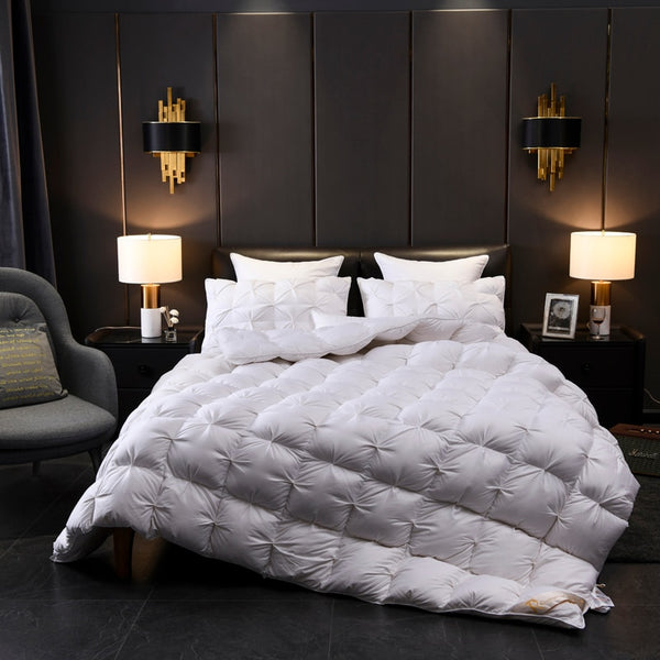 Aalam Pinch Quilted Cotton 100% Goose Down Filling Comforter - Venetto Design