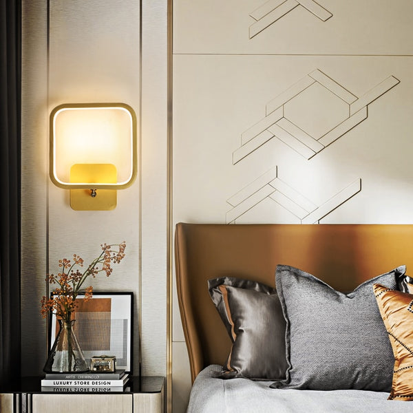 Kennedy Minimalist Rotatable Metal Round Wall Lamp - Venetto Design