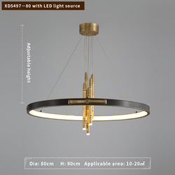 London Two-Tier Modern Rounded Metal Chandelier - Venetto DesignDia80CM / Warm Light
