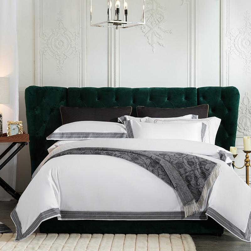 Fezaran Silky Soft Egyptian Cotton Duvet Cover Set - Venetto DesignColor 1 / King size 4Pieces
