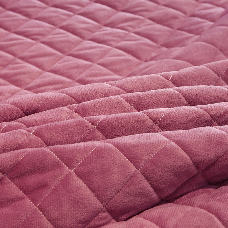 Faith Ruffled Edged Quilted Fleece Bedspread Set - Venetto Design