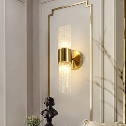 Mareike Veined Glass And Metal Wall Lamp - Venetto Design