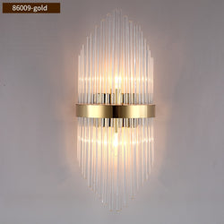Diana Tapered Crystal And Gold Ring Wall Lamp - Venetto Design86009-Gold / Warm White (2700-3500K) / Dia22cm H54cm