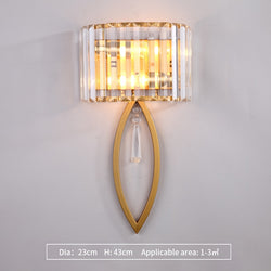 Isla Oval Cut Fluted Glass Wall Lamp - Venetto DesignDia23cm H43cm-Gold / Warm White (2700-3500K)