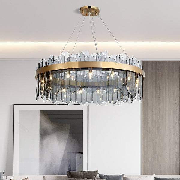 Patina Gold Ring Chandelier - Venetto Design