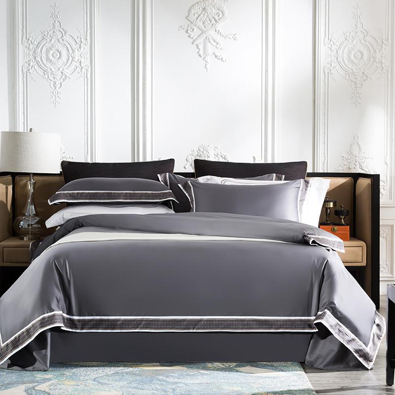 Fezaran Silky Soft Egyptian Cotton Duvet Cover Set - Venetto DesignColor 2 / King size 4Pieces