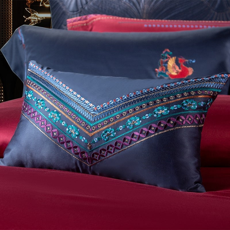 Clennet Luxury Egyptian Cotton Embroidery Duvet Cover Set - Venetto Design