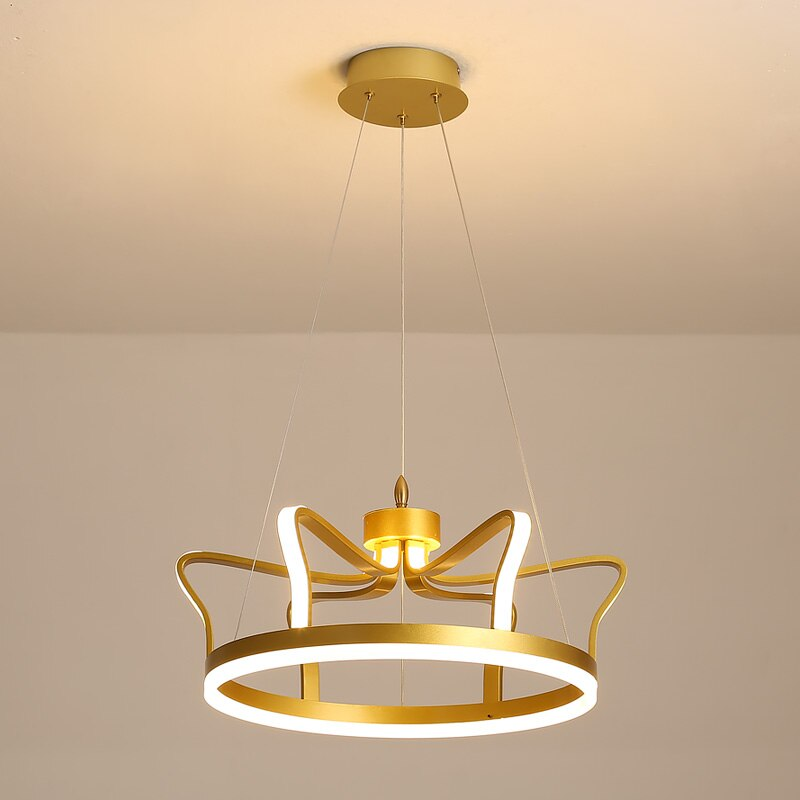 Arianna Minimalist 3D-Crown Copper Ring Chandelier - Venetto Design