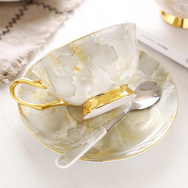 Romolo Marbling Porcelain Bone China Tea/Coffee Set - Venetto Design