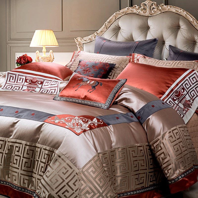 Venora Luxury Jacquard Duvet Cover Set - Venetto Design