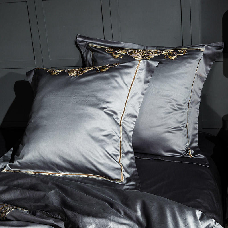 Lezkira Luxury Egyptian Cotton Embroidery Bedding set