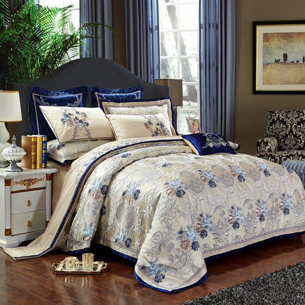 Gazaneya Oriental Jacquard Luxury Duvet Cover Set - Venetto Design