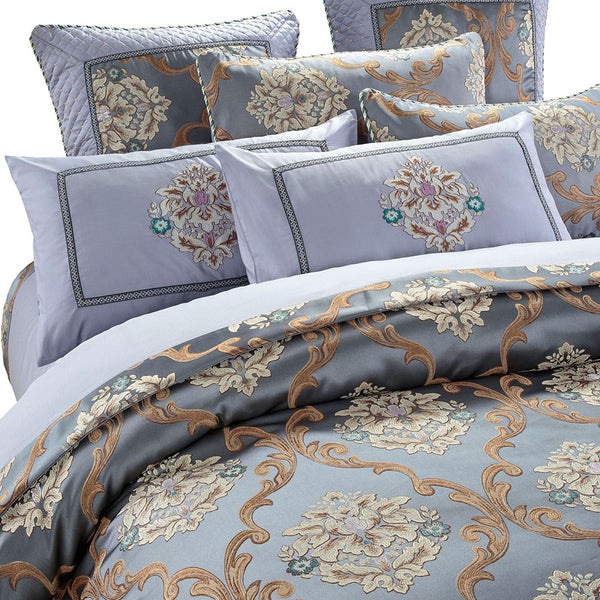 Caltada Brown Coffee jacquard cotton stain Luxury Duvet Cover Set - Venetto Design