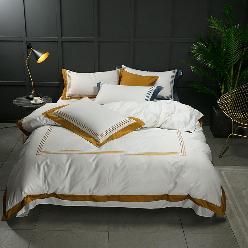 Nalva Luxury White 100%Cotton Bedding set