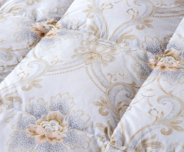 Rafia Ornate Printed Goose Down 100% Cotton Comforter - Venetto Design