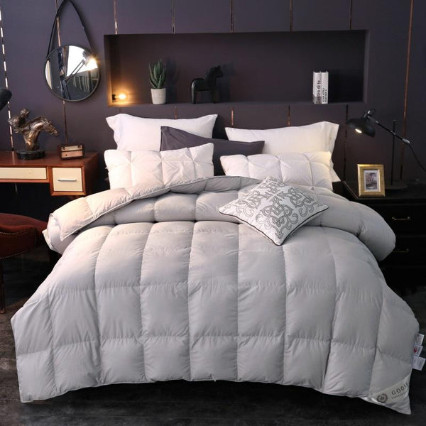 Bahiya Square Quilted Cotton Goose Down Filling Comforter - Venetto Design