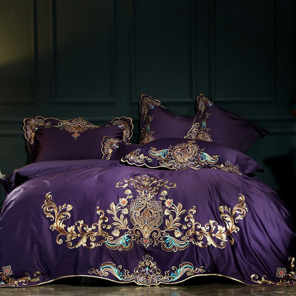 Umeyra Luxury Oriental Embroidery Egyptian Cotton Royal Bedding Set