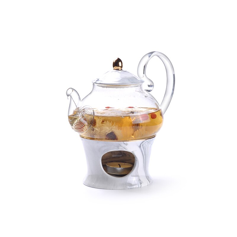 Rimiero Marbling Porcelain Tea/Coffee Set with Candle Warmer - Venetto Design
