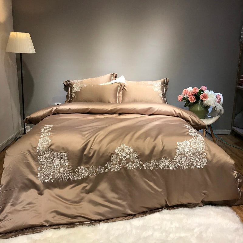 Grezedia Cotton Silk Luxury Bedding Set