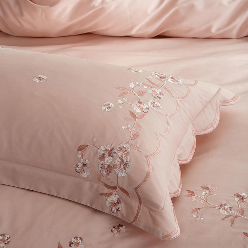 Meelona Egyptian Cotton Embroidered Duvet Cover Set - Venetto Design