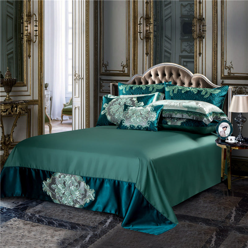 Verdariy Luxury Satin Egyptian Cotton Royal Duvet Cover Set - Venetto Design