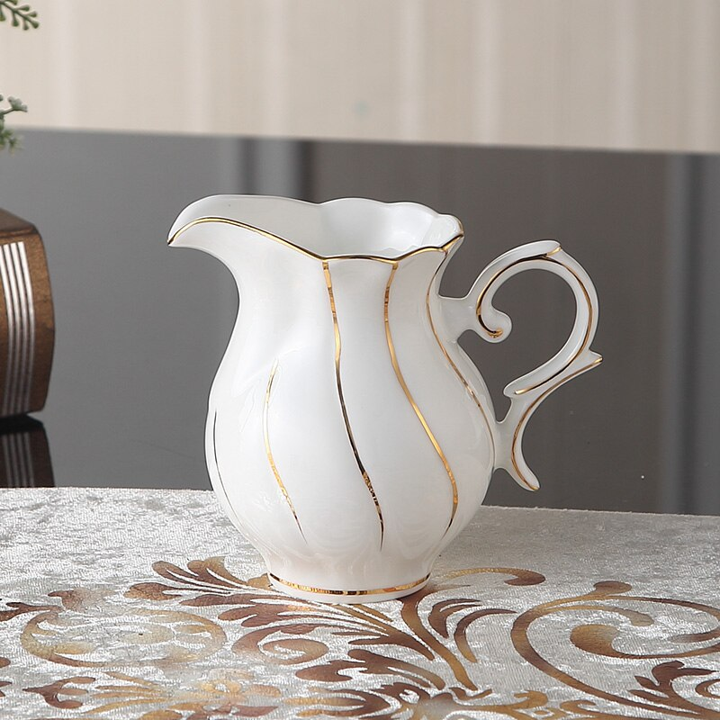 Benedicta Porcelain Gold Inlay Bone China Tea Set - Venetto Design