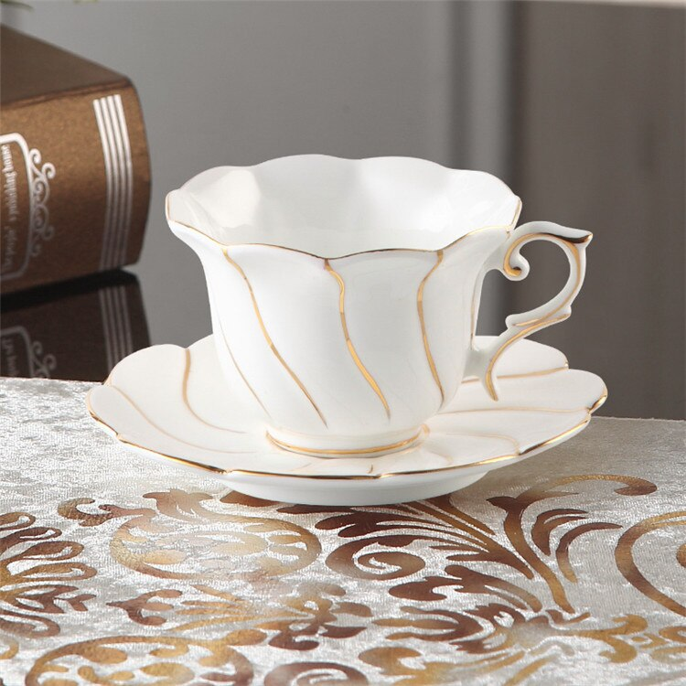Benedicta Porcelain Gold Inlay Bone China Tea Set - Venetto Design1Coffee Cup