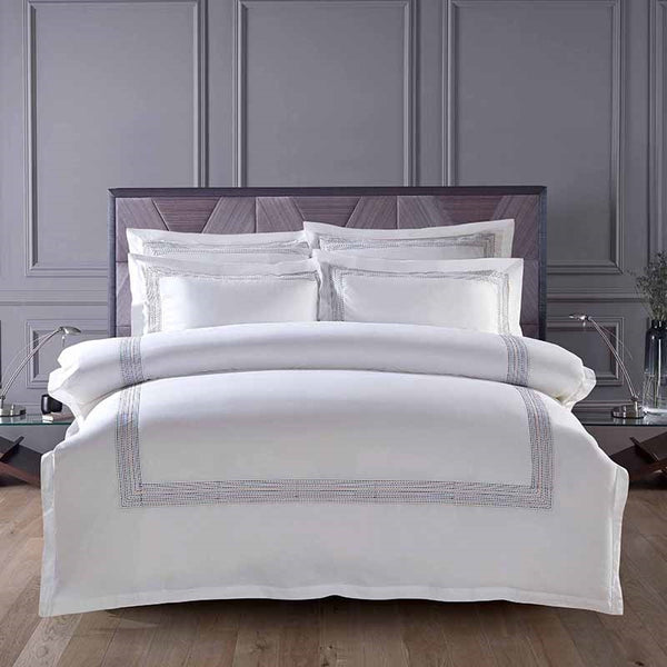 Abyad Hotel Stitch Egyptian Cotton Duvet Cover Set - Venetto Design