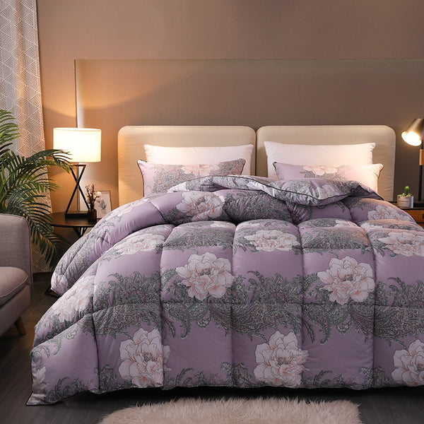 Fargo Floral And Paisley Quilted Goose Down Comforter - Venetto DesignColor 1 / 150X200cm 2KG