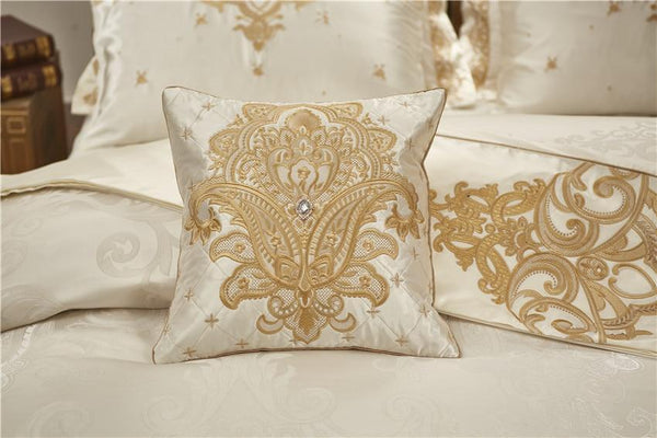 Rovenia Luxury Satin Cotton Duvet Cover Set - Venetto Design