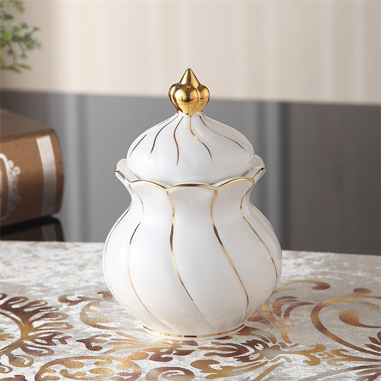 Benedicta Porcelain Gold Inlay Bone China Tea Set - Venetto DesignSugar Bowl