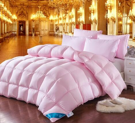 Ghaith Tri-Striped Goose Down 100% Cotton Comforter - Venetto Designpink / 150x200cm 2500g