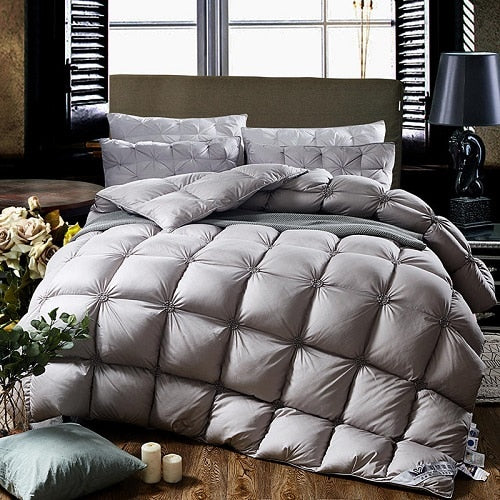 Albard Square Quilted 100% Goose Down Comforter - Venetto Design