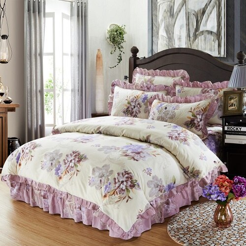 Nellisant 100% Cotton Soft Duvet Cover Set - Venetto DesignColor 5 / Queen size 4pcs