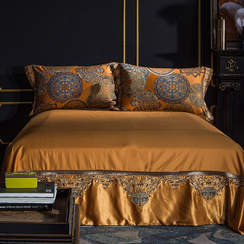Khronom Luxury Satin Cotton Duvet Cover Set - Venetto Design
