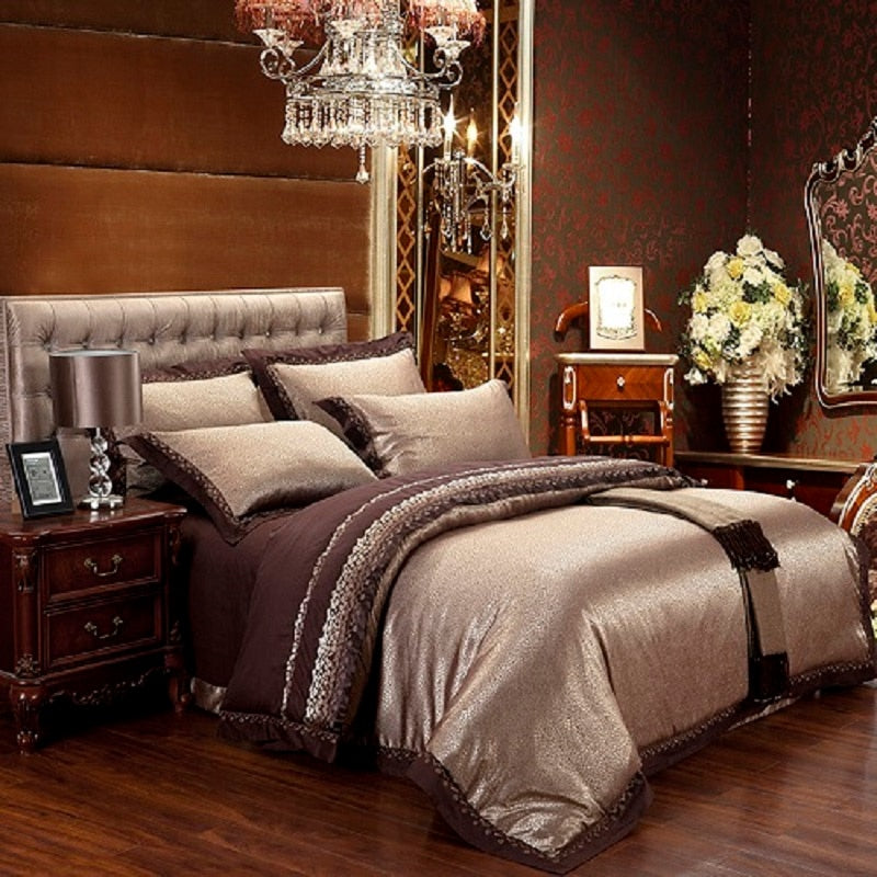 Vetora luxury silk jacquard cotton bedding sets