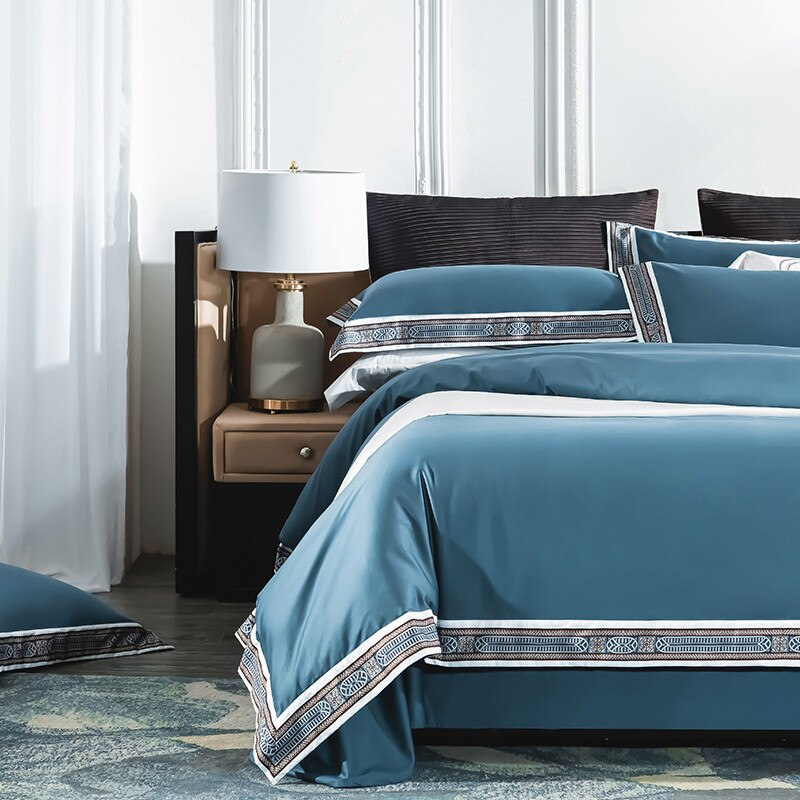 Fezaran Silky Soft Egyptian Cotton Duvet Cover Set - Venetto Design