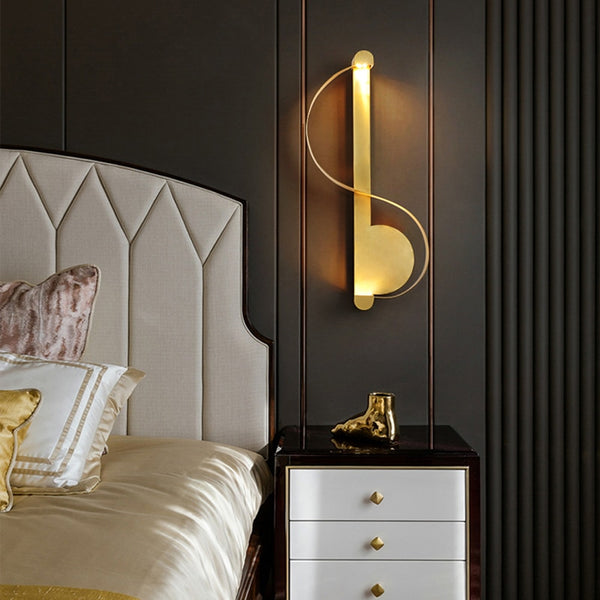 Alzbeta Modern Metal S-Bar Wall Lamp - Venetto Design