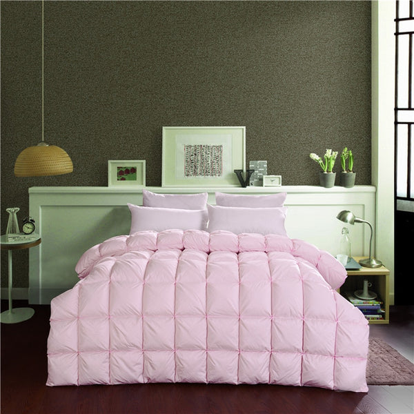 Shadiya Square Quilted Goose Down Cotton Filling Comforter - Venetto Design