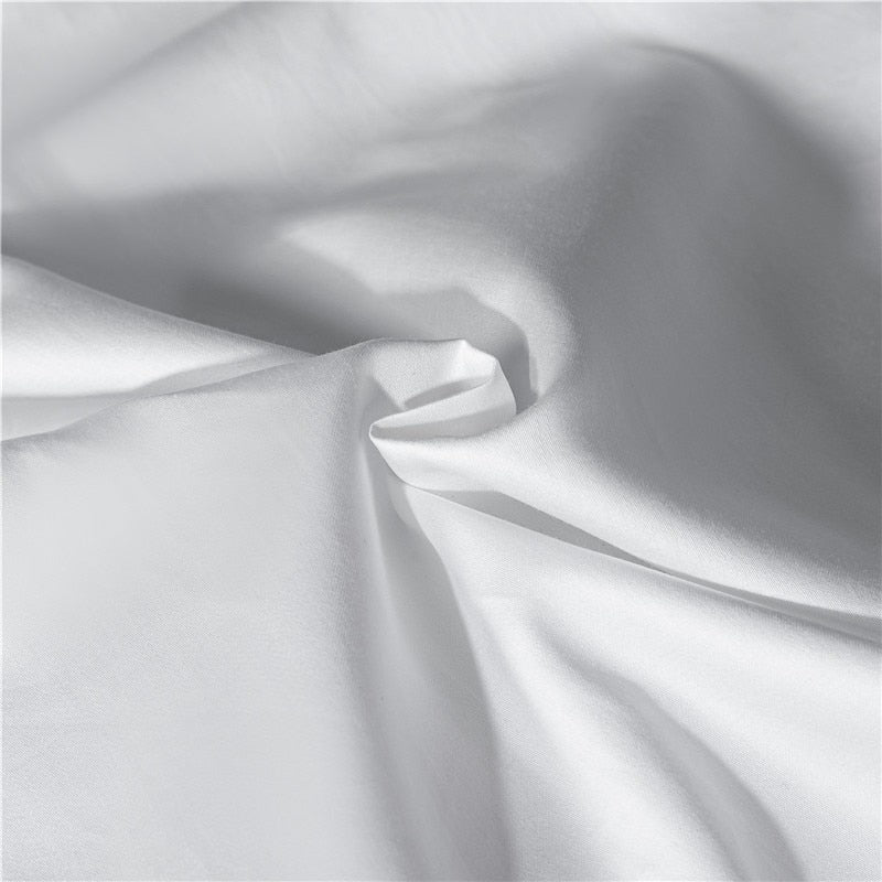 Carly Embroidered Border Hotel Square 100% Cotton Duvet Cover Set - Venetto Design