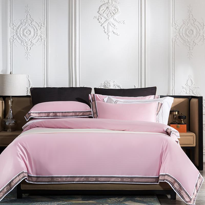 Fezaran Silky Soft Egyptian Cotton Duvet Cover Set - Venetto DesignColor 9 / King size 4Pieces
