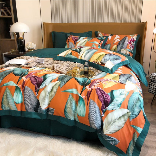 Jaden Nature-Inspired Egyptian Cotton Duvet Cover Set - Venetto Design