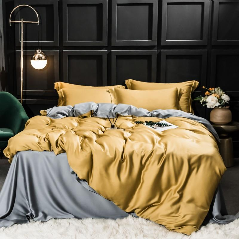 Najam Two-Tone 100% Lyocell Tencel Duvet Cover Set - Venetto Design006 / King 4pcs