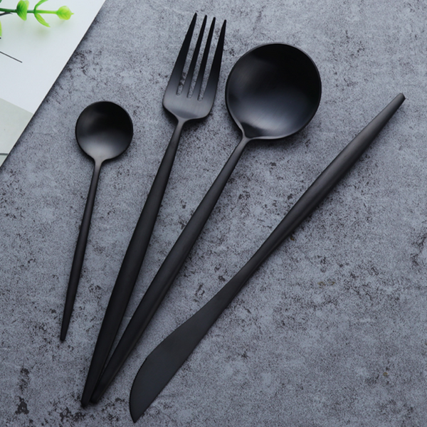 Flatware Arya Black Cutlery Set - Venetto Design