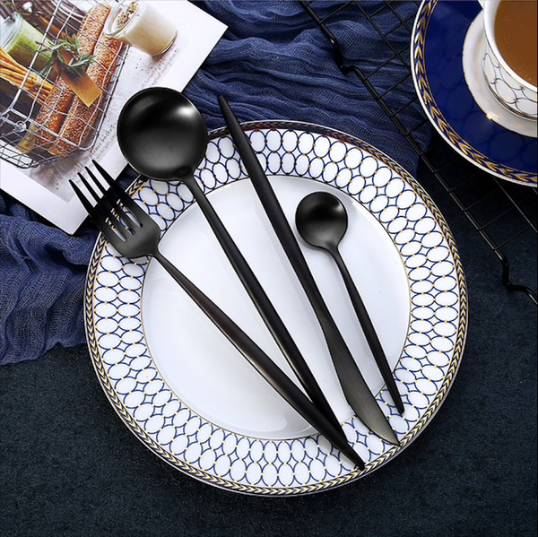 Flatware Arya Black Flatware - Venetto Design