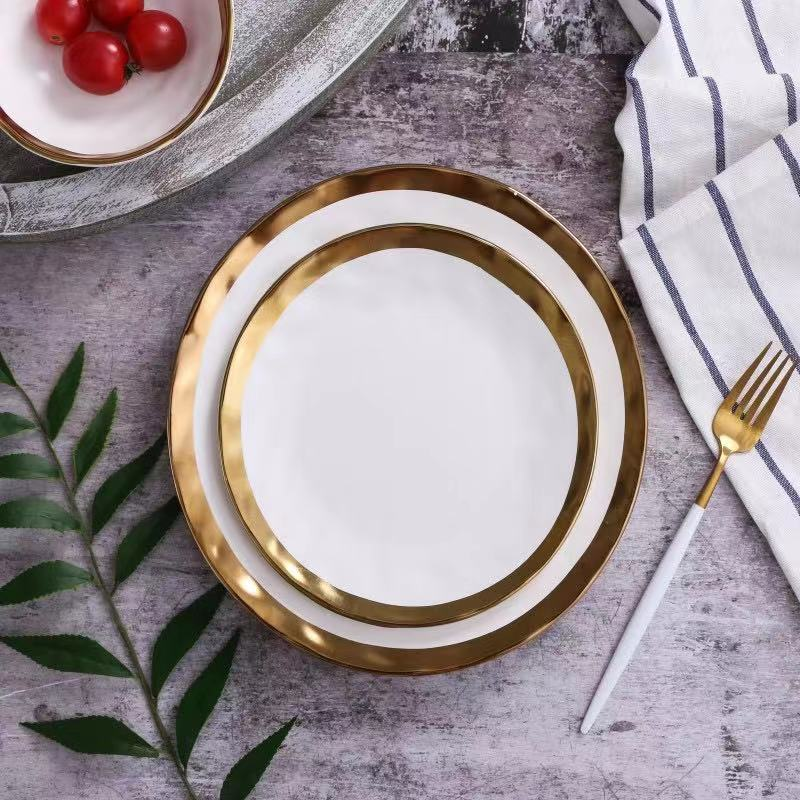Pearl White Plate - Venetto Design6pcs-small size