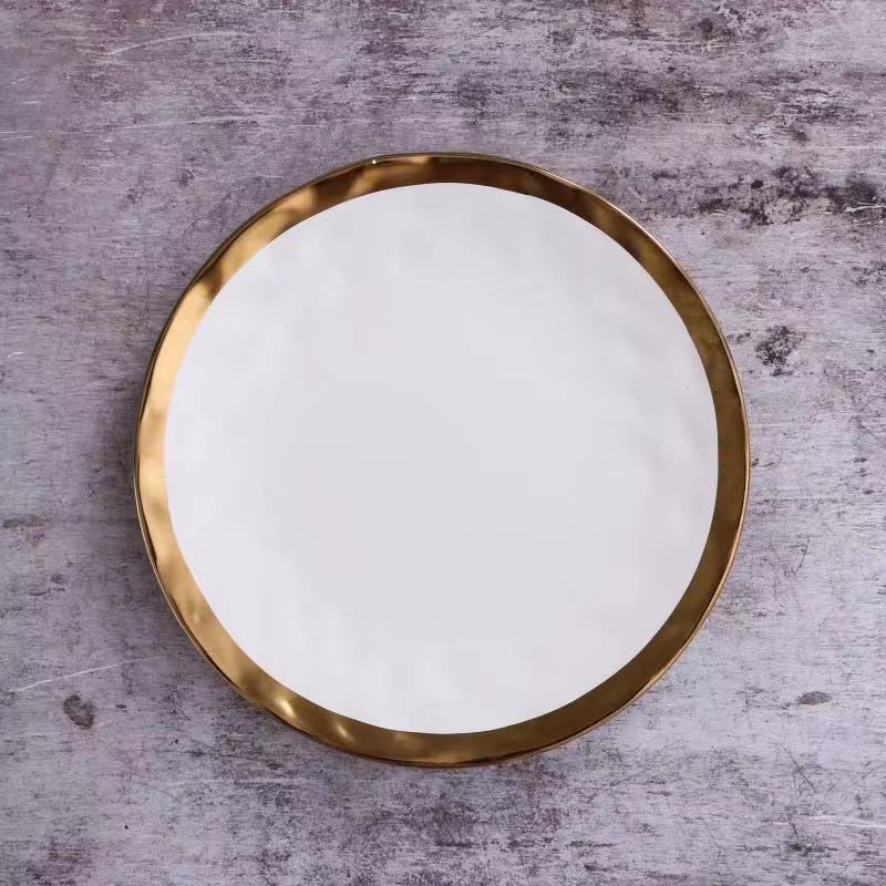 Pearl White Plate - Venetto Design6pcs-Large Size