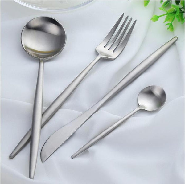 Flatware Arya Silver Cutlery Set - Venetto Design24 Pieces Set