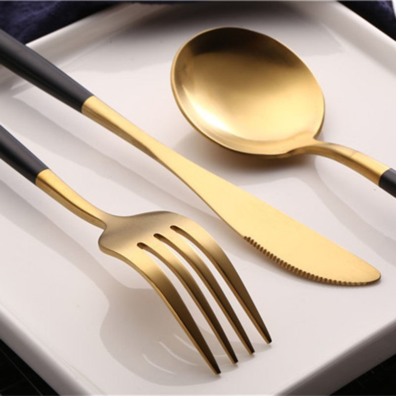Flatware Arya Black Gold - Venetto Design